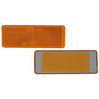 reflector on side rectangular orange for glueing