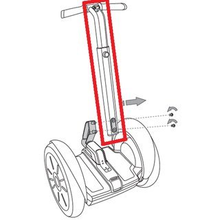 Leansteer white for Segway SE
