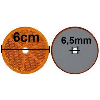 Orange round reflector Segway PT