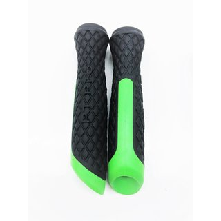 Grip rubber PT Pro ORG 2 pieces black green for handlebar Segway PT