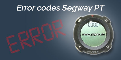 Error codes Segway PT