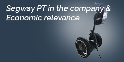 Segway PT in the company as a commercial vehicle and economic relevance
